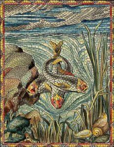 Mosaik nach antiken Vorbildern
